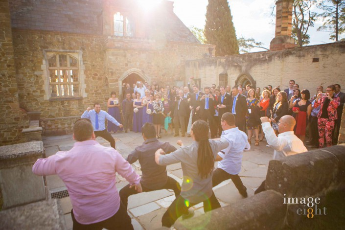 New Zealand Haka at the wedding Montsalvat