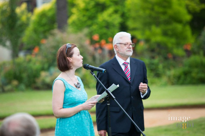 Garden Wedding celebrant Trevor Rice